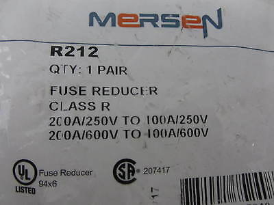 Mersen R212 Class R Fuse Reducer 200A/250V to 100A/250V Fast Free USA Shipping