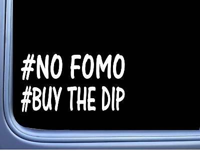 No Fomo L823 8 inch Sticker crypto currency bitcoin money stocks decal