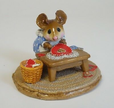 Wee Forest Folk Clementine Mouse Valentines Hearts Scissors Table M-204 Figurine