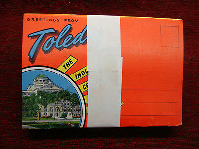 Greetings From Toledo Ohio - Vint. Fold-Out With 18 Views -Orig. Grp. Of 12 Pc.