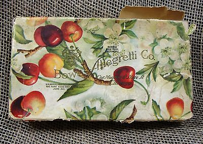 Antique Vintage Candy Gift Box 1906 Cherries Chicago IL