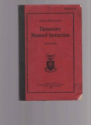 Field Artillery, Elementary Mounted Instruction 1933 Edition, Horse Care Manual