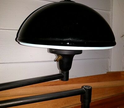 Art Deco, Industrial Style Mid-Century Swivel Black Dome Light Germany Globe