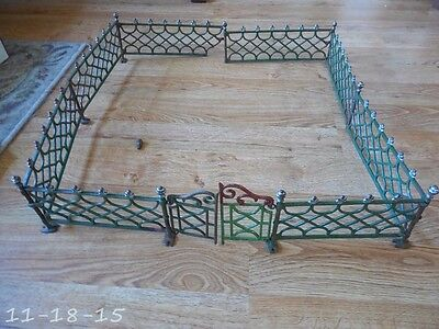"""Victorian 24"""" X 24"""" Cast Iron Christmas Tree Fence With Gates"""