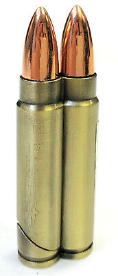 Double Bullet Shaped Jet Torch Flame Refillable Lighter-1614-1