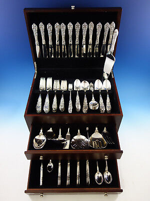 Richelieu by International Sterling Silver Flatware Service for 12 Set 135 pcs
