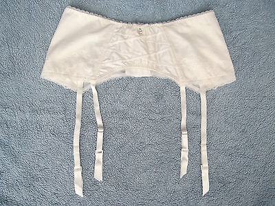 New Figleaves Size 12 Isabella Bridal Satin and Lace Suspender Belt Ivory