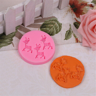 Lovely Deer Sugar Molds Craft Fondant Mold Cake Bakeware Tools Cake Decor SEAU