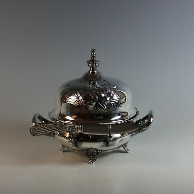 Victorian Rogers Silver plate Domed Butter Dish Silverplate