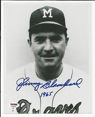 Johnny Blanchard 1965 Braves Signed Auto 8x10 Photo PSA/DNA Certified Autograph