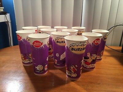 Vintage 1997 DQ Dairy Queen Wax Paper Blizzard Cups Dennis The Menace Lot Of 12