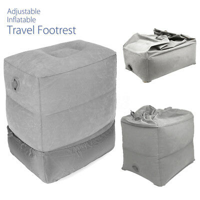 3 Step Height Adjustable Travel Inflatable Foot Rest Footrest Pillow Kid Bed AU