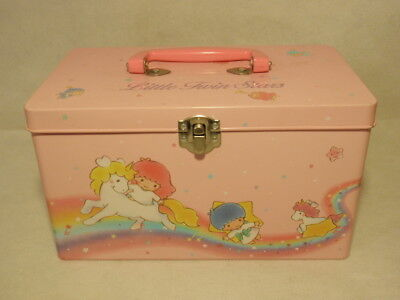 Sanrio Little Twin Stars Tin Lunchbox Container 1990 Japan