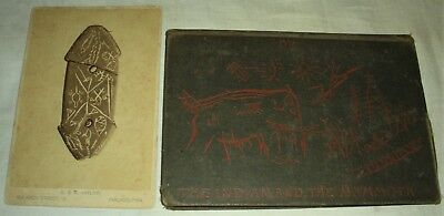 1885 LENAPE STONE INDIAN AND THE MAMMOTH W/ ORIGINAL PHOTOGRAPH HC MERCER vafo