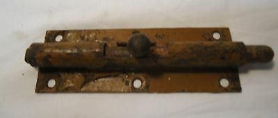 Antique Cast Iron Single Gate Barn Door Primitive Latch Architectural Salvage