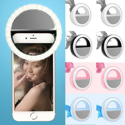 USB Rechargeable Ring Flash Fill-Selfie LED Light Photography Camera For iPhone