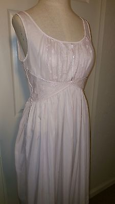 "Vintage Light Pink Cotton Shadowline Nightgown size 36 1950s 1960s 36"" Bust"