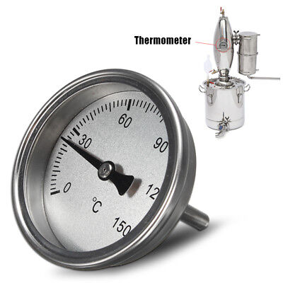 Stainless steel Thermometer For Home Brew Fruit Wine Water  Alcohol Distiller