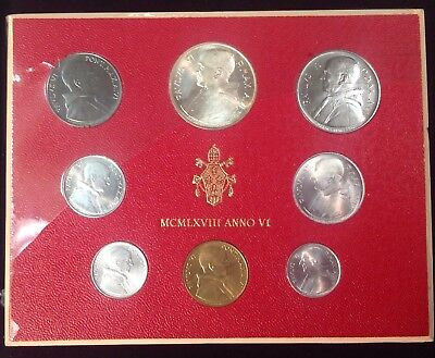 1968 Vatican City 8-Coin Silver Mint Set