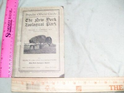 1909  Popular Official Guide to the New York Zoological Park  Zoo