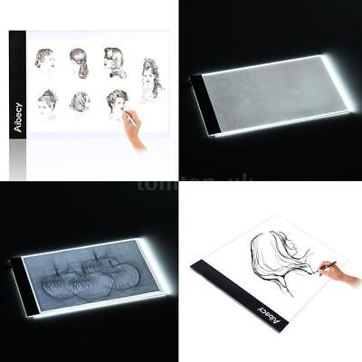 A4 LED Tracing Licht Kasten Zeichnung Art Pad Table Schablone mit USB-Kabel F9G7