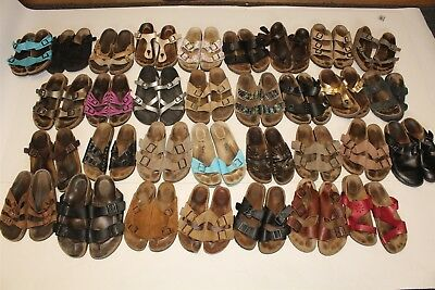 Birkenstock HUGE LOT Wholesale Used Shoes Sandals Rehab Resale Collection cFt