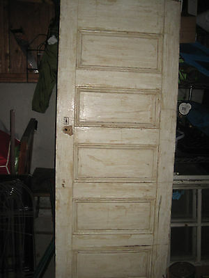 Vintage 5 panel wooden door  (PICK UP ONLY)