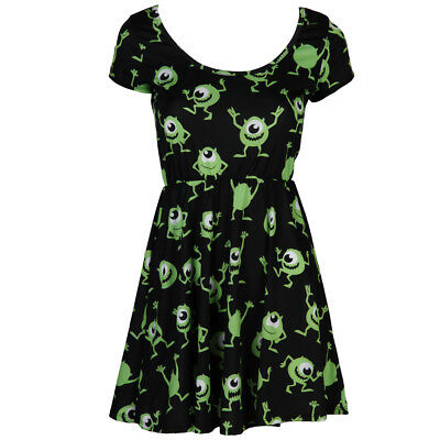Monsters, Inc. Mike Scares Disney Pixar Licensed Womens Junior Skater Dress