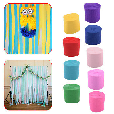 6 pcs 10m Crepe Paper Streamer Roll Wedding Birthday Party Supplies Decorations