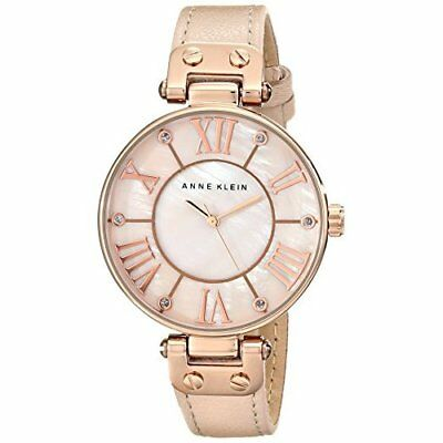 Valentines Day Gift for Women Anne Klein Rose Gold-Tone Watch with Leather Band