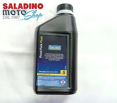 OLIO FORCELLA OHLINS FRONT FORK FLUID 5 W 1LT VISCOSITY 20,04 cST AT 40°