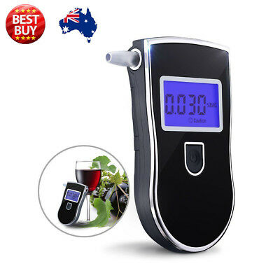Digital Alcohol Blood Breathalyser tester Breathtester  w/ Blue LCD Portable AU