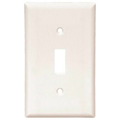 Cooper Wiring 2134W Standard Size Toggle Wallplates Thermoset, White, 1-Gang