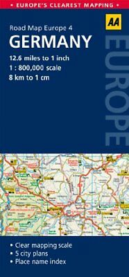 AA Road Map Germany (Road Map Europe 4) (AA Road Map Europe) by AA Publishing