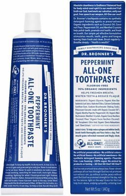 Dr Bronners Organic All One Toothpaste - Peppermint 148ml (2 Pack)
