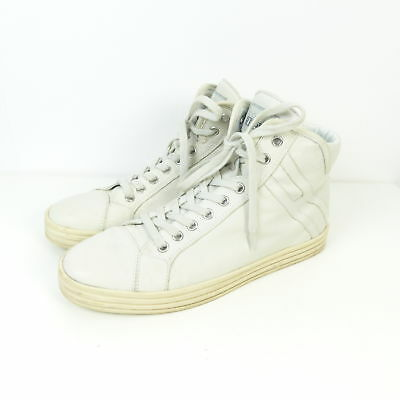 HOGAN REBEL SCARPE da Ginnastica Sneaker High Top Beige Tg. 38 1/2 dw62