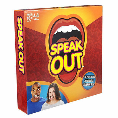 Speak Out Loud Board Party Talk Family Fun Game Gift Xmas 5 Mouthpieces Timer Uk
