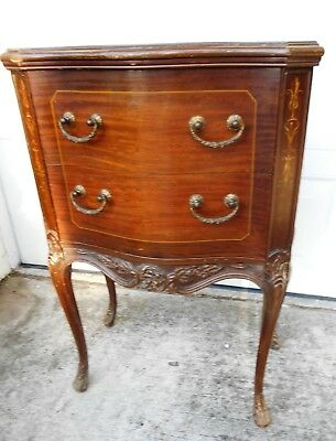 Antique Chesterfield Side Cabinet