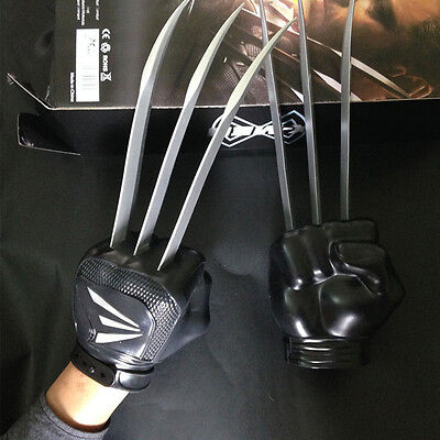 1 Pair X-MEN The Wolverine Claws Blades Wolf Paw Gloves Figure Cosplay Hot Toys