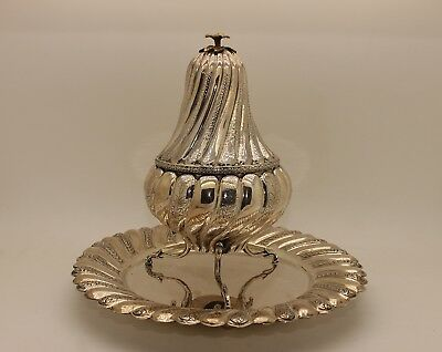 Antique Original Perfect Full Silver Ottoman Amazing Handmade Incense