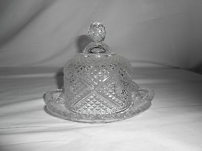 Vintage Avon diamond point dome butter, cheese dish 1973