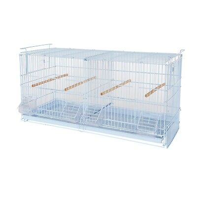 Kookaburra Walnut Double Wire Breeding Cage - Finch Canary Budgie Etc