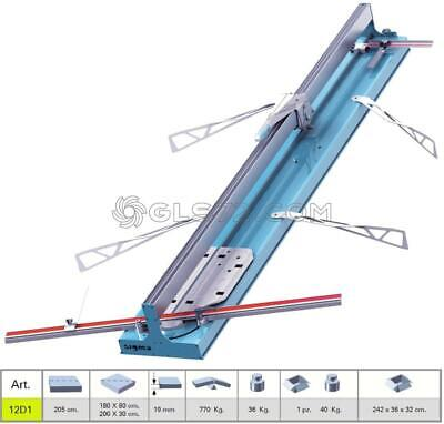 Tile Cutter Machine Manual Push Handle Sigma 12D1 Cutting Lenght 205 Cm