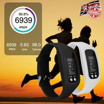 1PCS Digital LCD Pedometer Run Step Walking Distance Calorie Counter Wrist Watch
