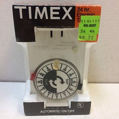 Vintage NEW NOS Timex 24 hour Antique White Electric Lamp Timer model #8501-002
