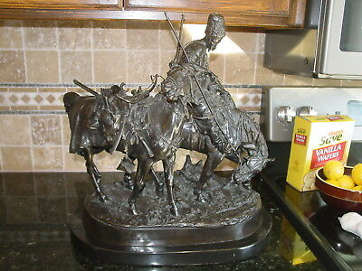 Russian BRONZE Eugeny Lanceray ZAPOROZHIAN COSSACK AFTER BATTLE Shtange PU ONLY