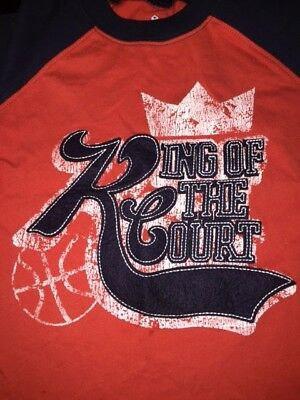 NWT Old Navy Basketball King of the Court Red & Navy Boys Short Sleeve 2T