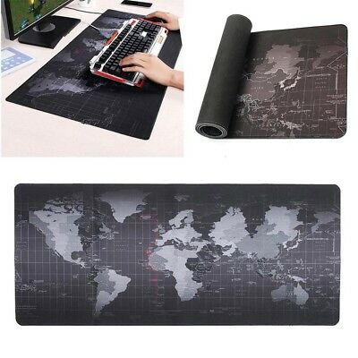 Anti-Slip Gaming Mat World Map Speed Game Mouse Pad  For Laptop PC Large XL Size