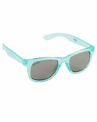 New OshKosh 4 + years Girls Sunglasses NWT Glitter Green Square Frames & Arms