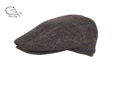 41eb8a56c JACK PYKE WOOL Blend Flat Cap Brown Check Shooting Hats FREE DELIVERY